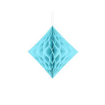 20cm Light Blue Diamond Honeycomb Paper Party Decorations