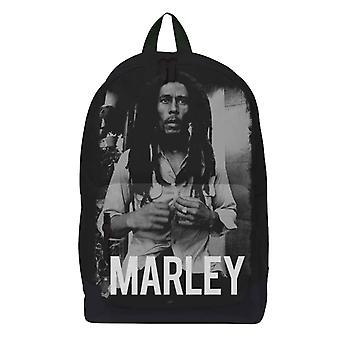 Bob Marley Ryggsäck Väska Marley Porträtt Logotyp Ny Officiell Svart