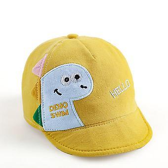 الكرتون طفل قبعة البيسبول لطيف ديناصور رسالة الاطفال طفلة صبي الشمس قبعة الربيع الصيف الأطفال طفل قبعة الشاطئ