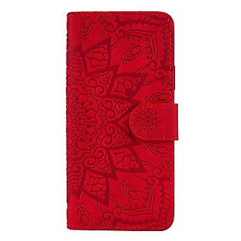 Mandala Flower Flip Case For Xiaomi Redmi Note 6/note 6 Pro Pu Leather Wallet Cover