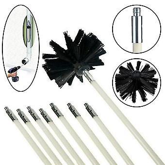 Kaminwerkzeuge Schornsteinreiniger Kit inklusive Stange und Bürste