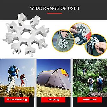 8 In 1 Portable Outdoor Snowflake Card Tool Blue