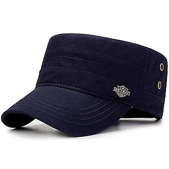 גברים צבאיים כובע קיץ סתיו מזדמנים צוער כובע שטף כובע עליון שטוח