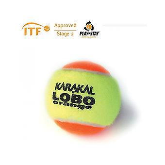 Karakal LoBo Orange Tennis ITF Goedgekeurde Lage Druk & Stuiterbal - 1 Dozijn