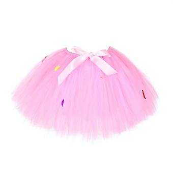 Yesfit Baby Tutu Rainbow Skirt Candy Color Girl Birthday Party Dress Skirt Suit