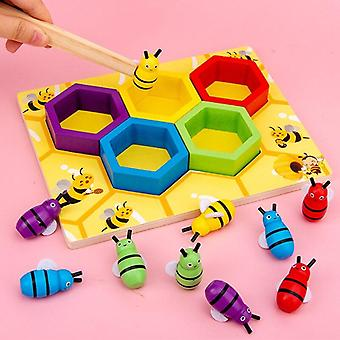 Alveari in legno Match Bee Game Toys Learning Sorting Color Puzzle Preschool Toys For Children|
