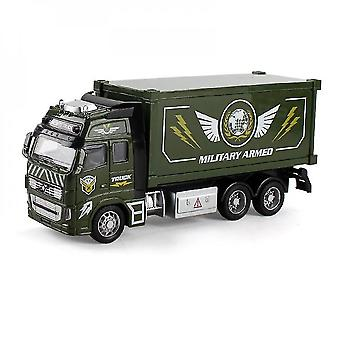 Qian Diecast Metal Realistic Military Armed Truck Toy