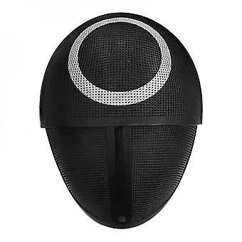 Tv Squid Game Black Mask Role Playing Round Hexagon Round Triangle Plastique Halloween Masquerade Party Costume Accessoires