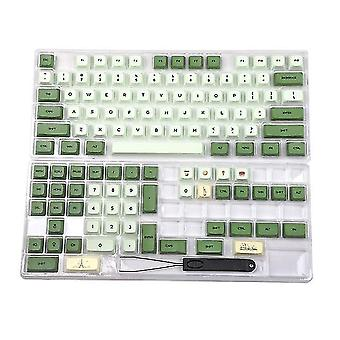 Matcha festék sub zda pbt keycap hasonló xda japán koreai orosz mx billentyűzet 104 87 61