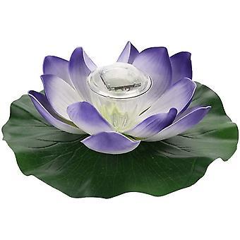 Wasserdichte Solar Multicolor Led Farbe Ändern Lotus Blumenblume Lampe Im Freien Schwimmenden Garten Pool Waschbecken Licht