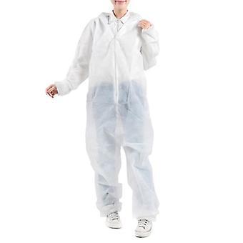 10 Stück Overall Einweg-Vlies-Schutz-Kapuzen-Arbeitskleidung