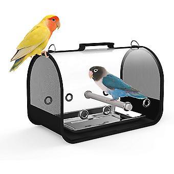 """Bird Carrier Small Bird Travel Cage Carrier portabile & gt; Transparent pliabile Animale de companie Cage Cu Bird Stinghii (mici 14 """"X 8"""" X 8 """")"""
