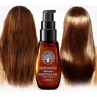 Huile essentielle de cheveux marocaine Kératine Croissance Liquide Leave-in