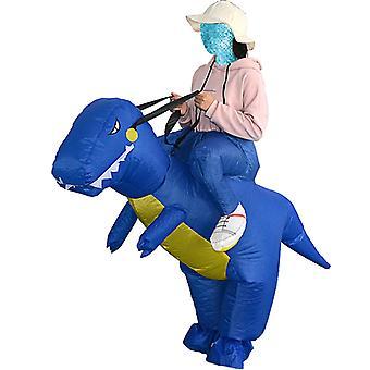 Adult Blue (150-200cm) Yutube Same Dinosaur Inflatable Costume Halloween Costume