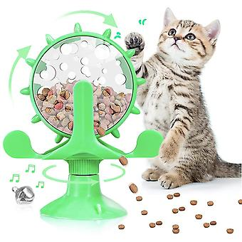 Pet Toy Cat Automatic Feeder, Leisure And Entertainment (green)