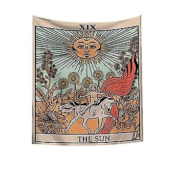 The Moon Tarot Card Astrology Tapestry