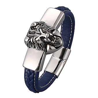 Silver Lion Design Bracelet For Men
