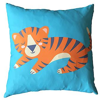 Puckator Scatter Cushion with Insert, Tiger Design, 50x50cm