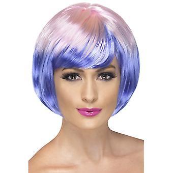 Babe wig bobbed Babeperücke purple pink stage short hair
