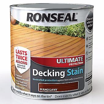 Ronseal 2,5 liter ultimative beskyttelse pyntede pletten - mahogni