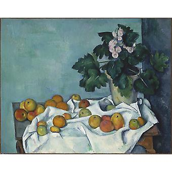 Paul Cezanne - Still Life Fruit and Throw Poster Print Giclee