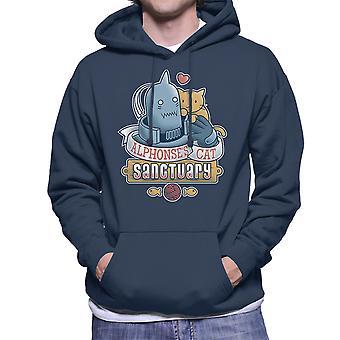 Alphonses 猫の聖域完全な金属の錬金術師メンズ フード付きスウェット シャツ