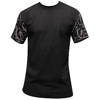Bandidos & castelos Chainleaf Pocket t-shirt preto Multi