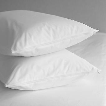 Pillow Protector (Pair) Pure Cotton 200 thread Percale Liquid Resistant