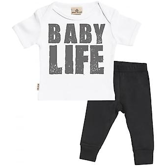 Verwend rotte Baby leven Baby T-Shirt & Baby Jersey broek Outfit Set