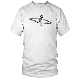 Skelett surfbräda B&W surfare Surfing damer T Shirt