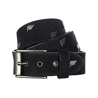 Lowlife Storm Leather Belt in Black
