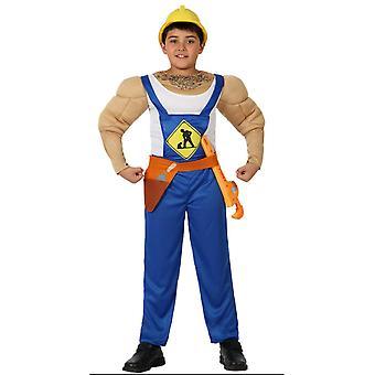 Para niños trajes de obrero de la construcción con los músculos