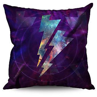 Space Thunder Linen Cushion 30cm x 30cm | Wellcoda