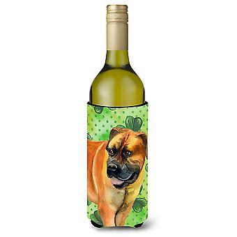 Boerboel Mastiff St Patrick's Wine Bottle Beverge Insulator Hugger