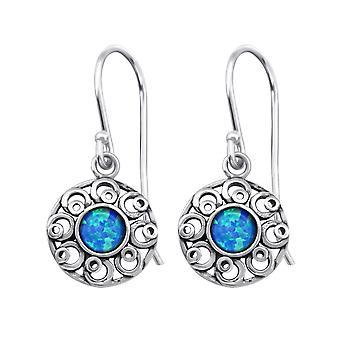 Flor - 925 pendientes Opal plata y Semi preciosos - W23653X