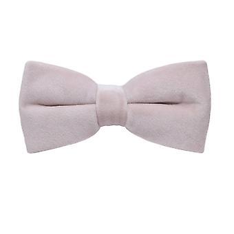 Luxury Dusky Light Pink Velvet Bow Tie