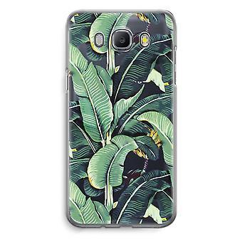 Samsung Galaxy J5 (2016) Transparent Case (Soft) - Banana leaves