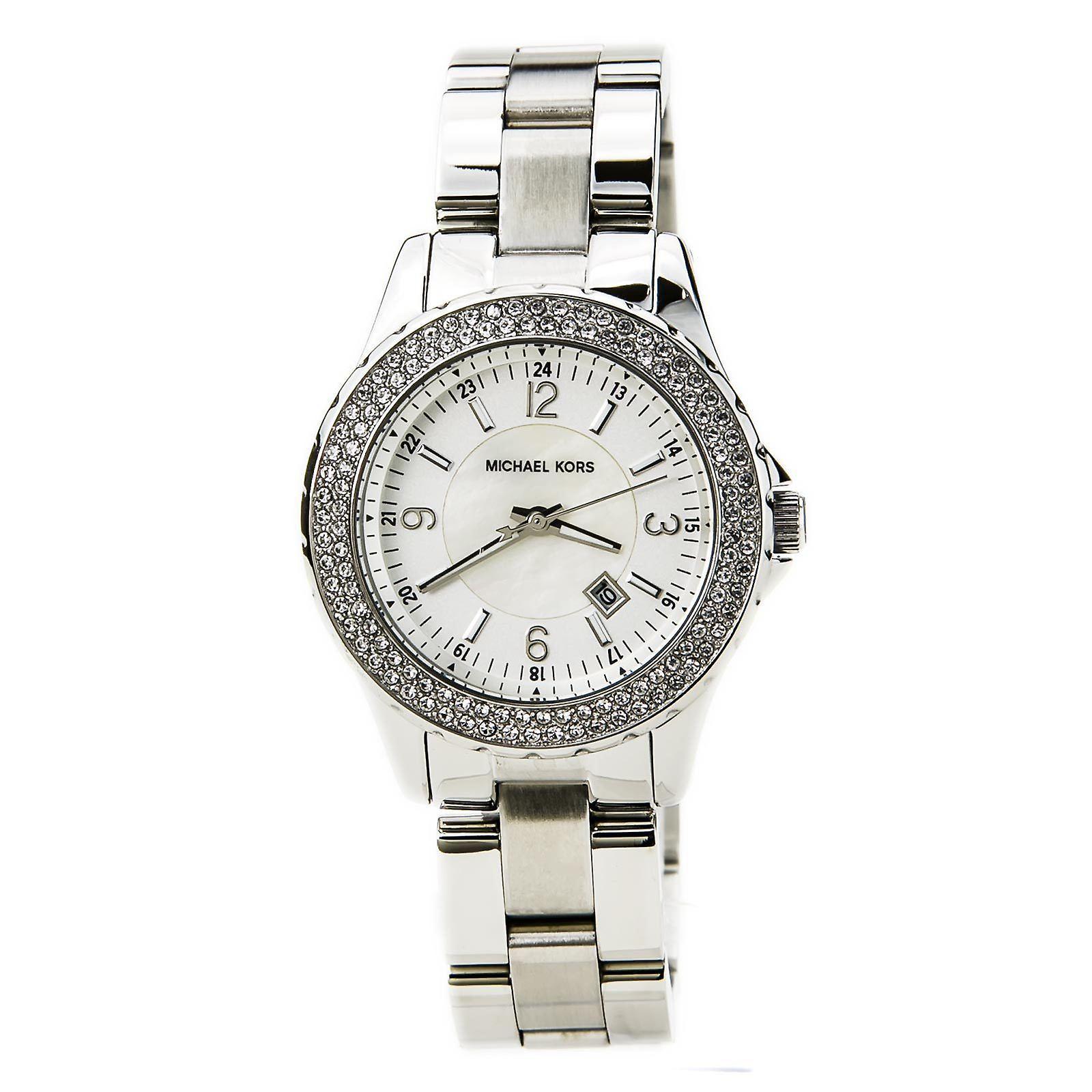 Michael Kors Womens Madison Wrist Watch visage blanc cadran argenté MK5401