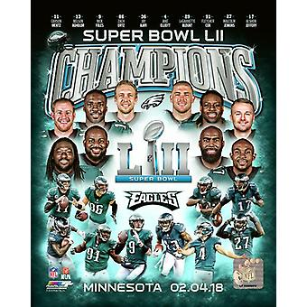 Philadelphia Eagles Super Bowl LII Champions sammansatta Photo Print