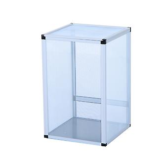 PawHut Reptile Tank Cage Aluminum Vivarium Waterproof Pet Breeder Breeding Snake Lizard Turtle Spider Tall Enclosure (Middle Size)