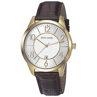 Pierre Cardin mens watch wristwatch leather PC106921F03