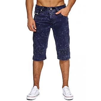 New Men's Jeans Shorts Pants Stonewashed Denim Biker Style Summer Capri TOP
