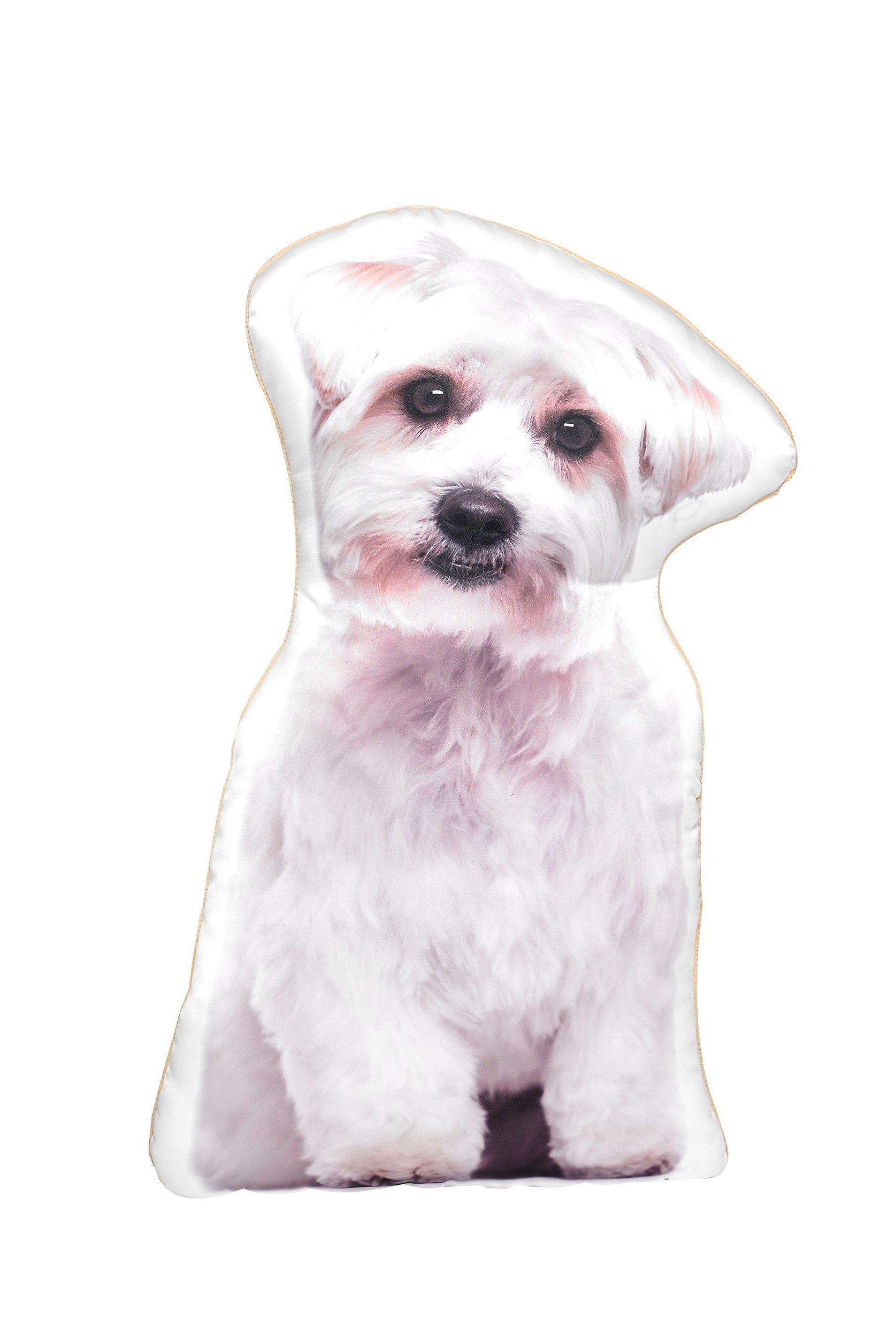 Adorable maltese shaped cushion