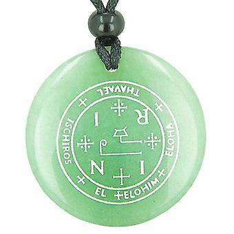 Siegel des Erzengel Thavael magische Amulett grünen Aventurin magische spirituelle Anhänger Halskette