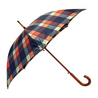Tweed Check Buchanan Print  Straight Umbrella