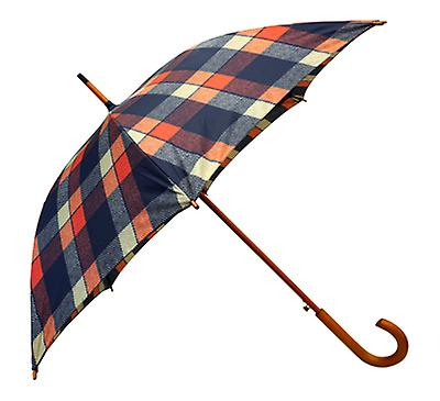 Tweed Check Buchanan Print  Straight Umbrella