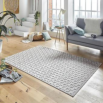 Design viscose rug Bouton in relief appearance grey