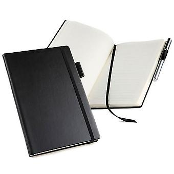 David Van Hagen A5 Casebound Notebook - czarny
