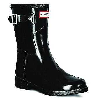 Womens Hunter Original verfijnd Gloss korte wintersneeuw regen Rubber laarzen