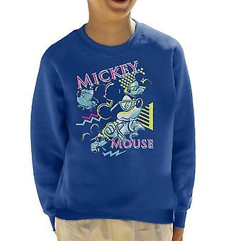 Disney Mickey Mouse Band 80s Vice Kid's Sweatshirt